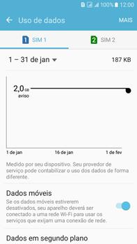 Samsung Galaxy On 7 - Rede móvel - Como ativar e desativar uma rede de dados - Etapa 6