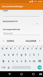 Crosscall Action X3 - E-mail - e-mail instellen: IMAP (aanbevolen) - Stap 16