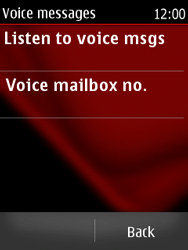 Nokia Asha 300 - Voicemail - Manual configuration - Step 7