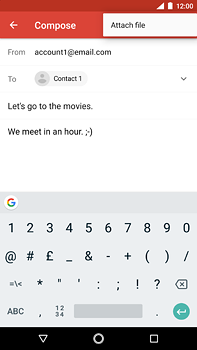 Nokia 6 (2018) - E-mail - Sending emails - Step 10