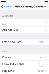 Apple iPhone 4 S iOS 7 - Email - Manual configuration - Step 14