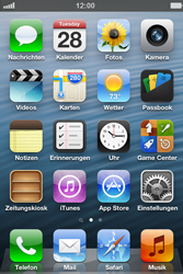 Apple iPhone 4S mit iOS 6 - Anrufe und Kontakte - Mobilbox konfigurieren - Schritt 1