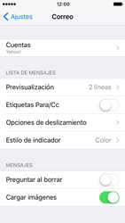 Apple iPhone 5s iOS 10 - E-mail - Configurar Yahoo! - Paso 9