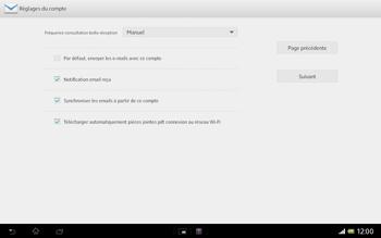 Sony SGP321 Xperia Tablet Z LTE - E-mail - Configurer l