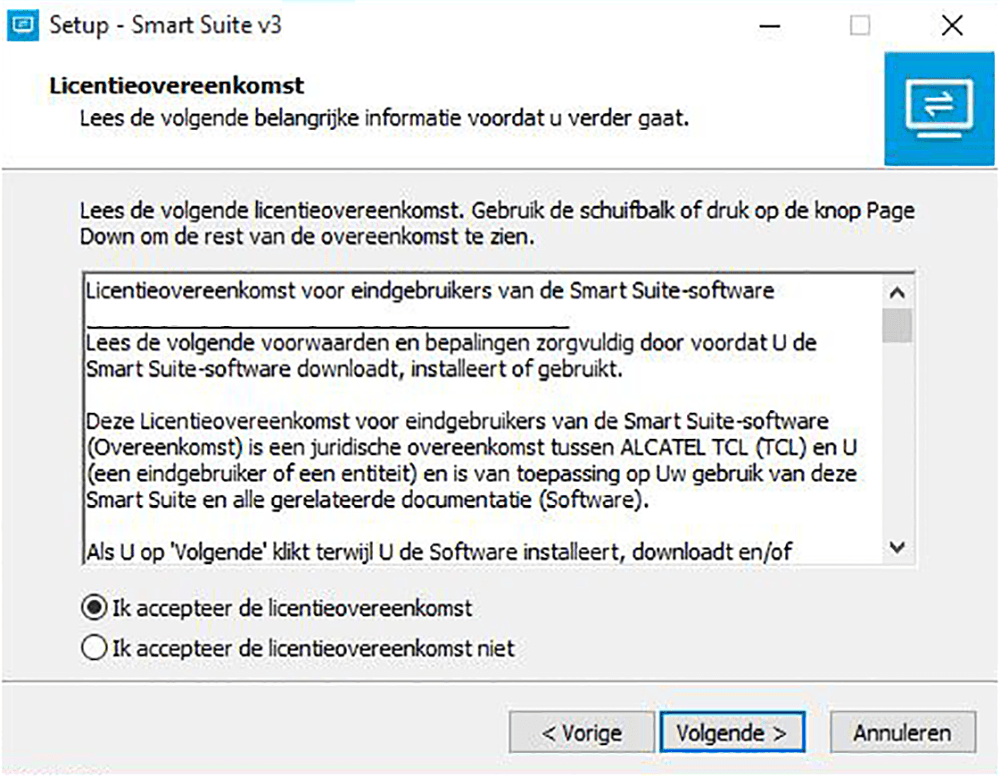 Alcatel Pixi 3 (8) - Software - Download en installeer PC synchronisatie software - Stap 5
