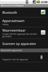 Samsung I7500 Galaxy - Bluetooth - koppelen met ander apparaat - Stap 9