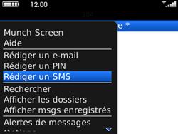 BlackBerry curve 3G - Contact, Appels, SMS/MMS - Envoyer un SMS - Étape 5