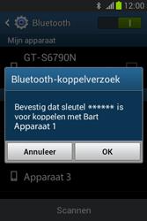 Samsung S6790 Galaxy Fame Lite - Bluetooth - Koppelen met ander apparaat - Stap 7