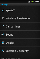 Sony ST27i Xperia Go - MMS - Manual configuration - Step 4