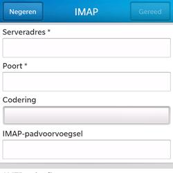BlackBerry Q5 - E-mail - Account instellen (IMAP zonder SMTP-verificatie) - Stap 10
