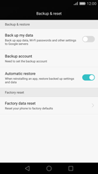 Huawei P8 - Device maintenance - How to do a factory reset - Step 5