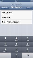 Apple iPhone 5 - Basisfunktionen - SIM-PIN aktivieren und ändern - Schritt 9