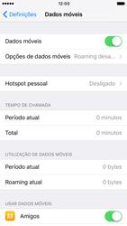Apple iPhone 6 iOS 10 - Internet no telemóvel - Como ativar os dados móveis -  5