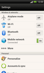 HTC T328e Desire X - Internet - Enable or disable - Step 4
