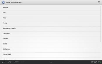 Samsung P7500 Galaxy Tab 10-1 - Mensajería - Configurar el equipo para mensajes multimedia - Paso 8