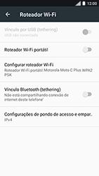 Motorola Moto C Plus - Wi-Fi - Como usar seu aparelho como um roteador de rede wi-fi - Etapa 8