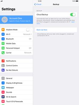 Apple Apple iPad Pro 9.7 - iOS 11 - Device maintenance - Create a backup of your data - Step 13