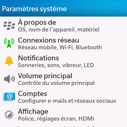 BlackBerry Q10 - Wifi - configuration manuelle - Étape 3