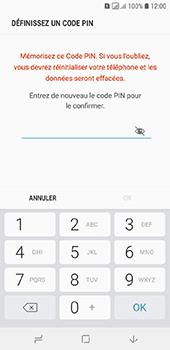 Samsung Galaxy A6 - Sécuriser votre mobile - Activer le code de verrouillage - Étape 9