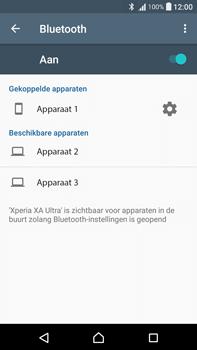 Sony F3211 Xperia XA Ultra - WiFi en Bluetooth - Bluetooth koppelen - Stap 8