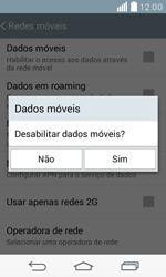 LG D390n F60 - Rede móvel - Como ativar e desativar uma rede de dados - Etapa 7