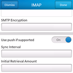 BlackBerry Q5 - Email - Manual configuration - Step 14
