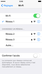 Apple iPhone 5 iOS 8 - Wifi - configuration manuelle - Étape 6