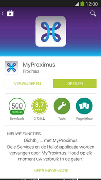 Samsung Galaxy S5 mini - Applicaties - MyProximus - Stap 9
