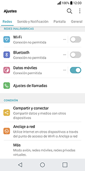 LG Q6 - Red - Seleccionar una red - Paso 3
