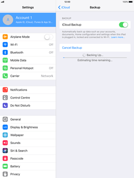 Apple iPad Air - iOS 11 - Device maintenance - Create a backup of your data - Step 11