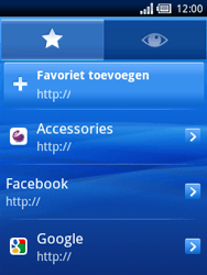 Sony Ericsson Xperia X10 Mini Pro - Internet - Hoe te internetten - Stap 10