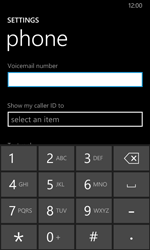 Nokia Lumia 635 - Voicemail - Manual configuration - Step 7