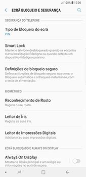 Samsung Galaxy Note 8 - Android Oreo - Segurança - Como ativar o código de bloqueio do ecrã -  12