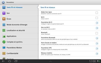 Samsung P7500 Galaxy Tab 10-1 - Wifi - configuration manuelle - Étape 3