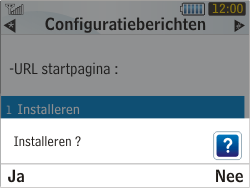 Samsung S3350 Chat 335 - MMS - automatisch instellen - Stap 6