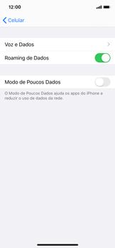 Apple iPhone X - iOS 13 - Rede móvel - Como ativar e desativar o roaming de dados - Etapa 6