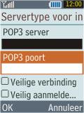 Samsung B2100 Xplorer - E-mail - Handmatig instellen - Stap 19