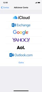 Apple iPhone iOS 12 - Email - Como configurar seu celular para receber e enviar e-mails - Etapa 5