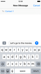 Apple iPhone SE - iOS 10 - iOS features - Send iMessage - Step 12