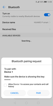 Huawei P Smart - Bluetooth - Pair with another device - Step 8