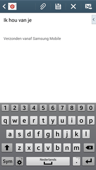 Samsung N9005 Galaxy Note III LTE - E-mail - Bericht met attachment versturen - Stap 10