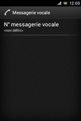 Sony ST23i Xperia Miro - Messagerie vocale - configuration manuelle - Étape 7