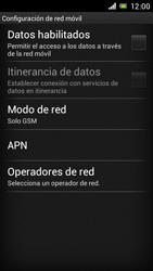 Sony Xperia J - Red - Seleccionar el tipo de red - Paso 8