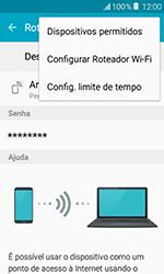 Samsung Galaxy J1 - Wi-Fi - Como usar seu aparelho como um roteador de rede wi-fi - Etapa 7