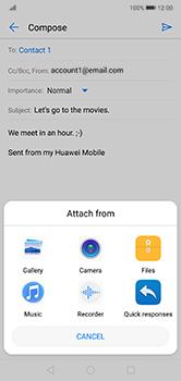 Huawei P20 Lite - E-mail - Sending emails - Step 10