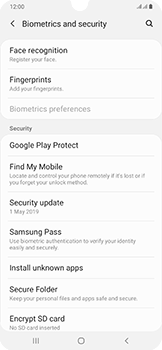 Samsung Galaxy A50 - Device - Enable Find my Phone - Step 5