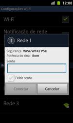 Samsung I9100 Galaxy S II - Wi-Fi - Como configurar uma rede wi fi - Etapa 8