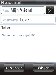 HTC F3188 Smart - E-mail - hoe te versturen - Stap 7
