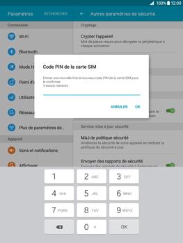 Samsung Galaxy Tab A - Sécuriser votre mobile - Personnaliser le code PIN de votre carte SIM - Étape 10