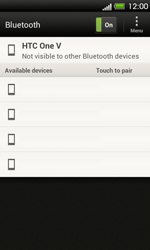 HTC T320e One V - Bluetooth - Pair with another device - Step 7